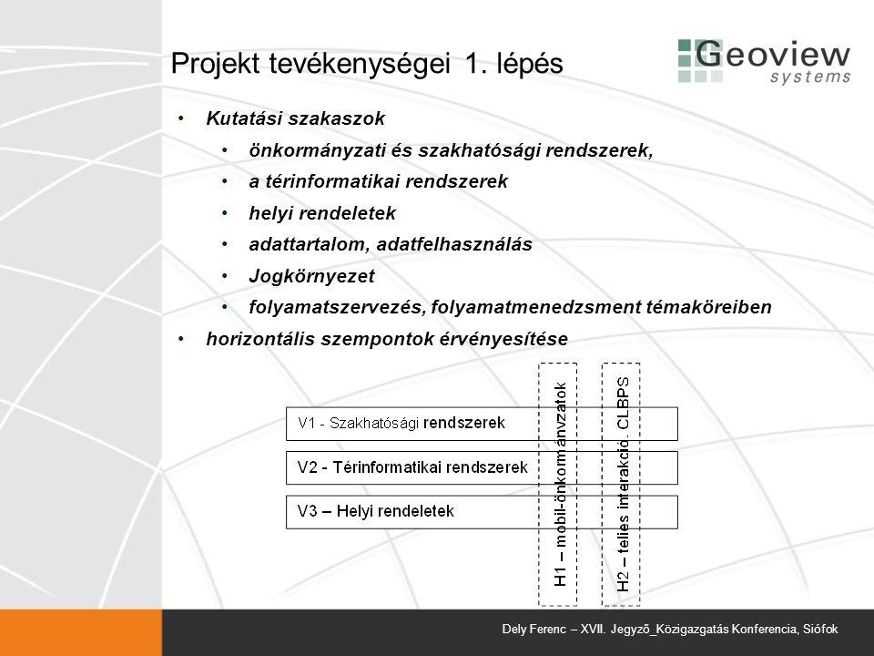 Projekt tevékenységei 1. lépés