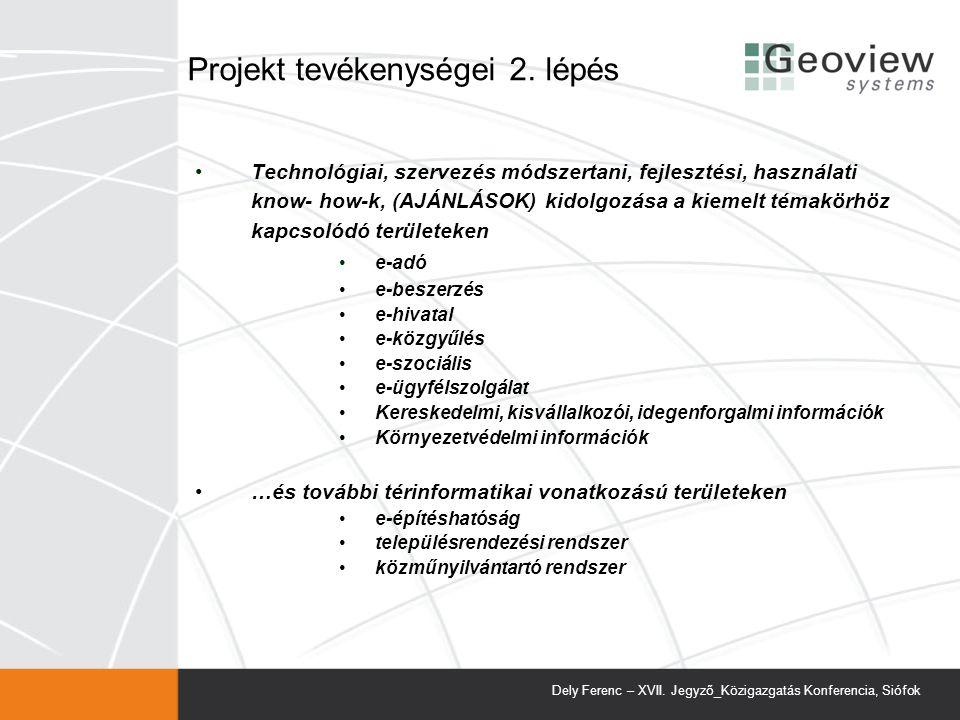 Projekt tevékenységei 2. lépés