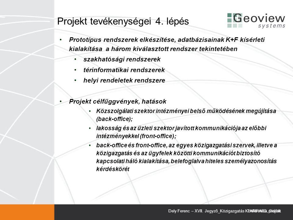 Projekt tevékenységei 4. lépés