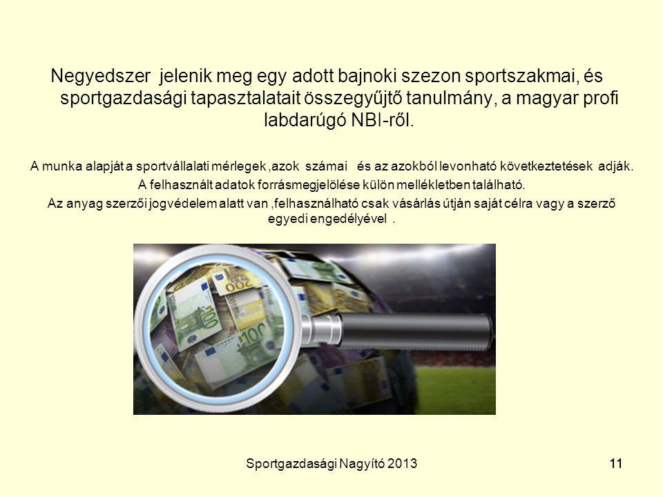Negyedszer jelenik meg egy adott bajnoki szezon sportszakmai, és sportgazdasági tapasztalatait összegyűjtő tanulmány, a magyar profi labdarúgó NBI-ről.