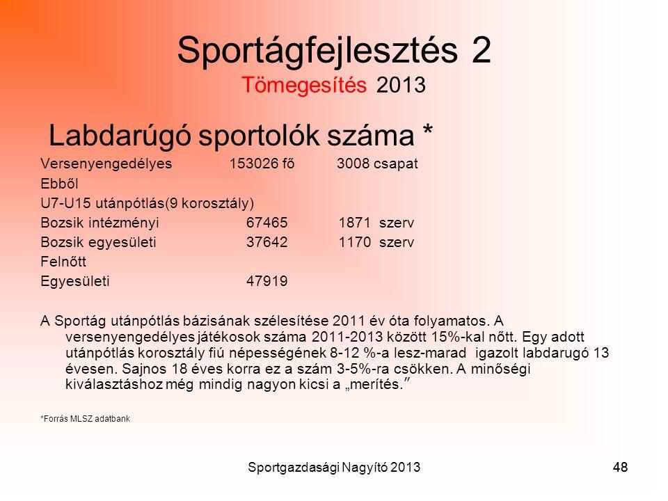 Sportágfejlesztés 2 Tömegesítés 2013