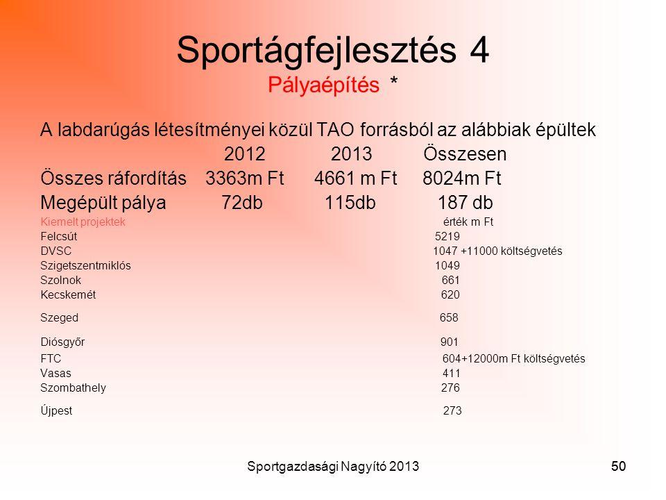 Sportágfejlesztés 4 Pályaépítés *