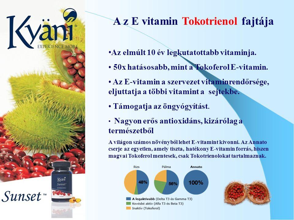 A z E vitamin Tokotrienol fajtája