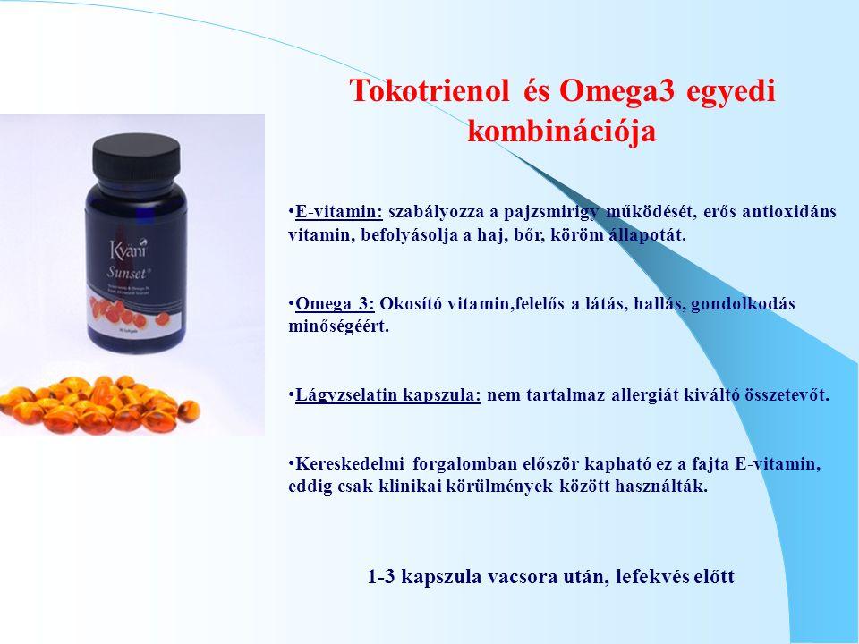 Tokotrienol és Omega3 egyedi kombinációja