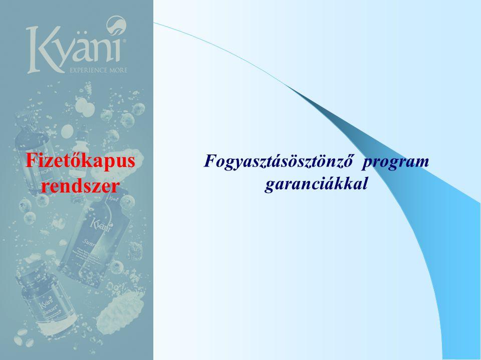 Fogyasztásösztönző program garanciákkal