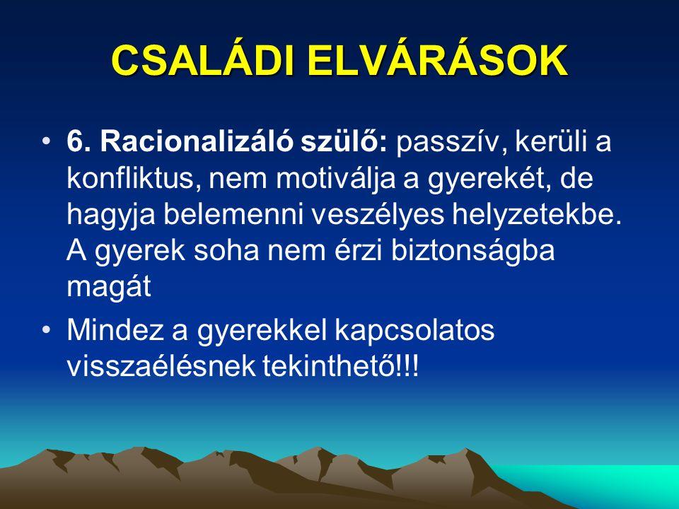 CSALÁDI ELVÁRÁSOK