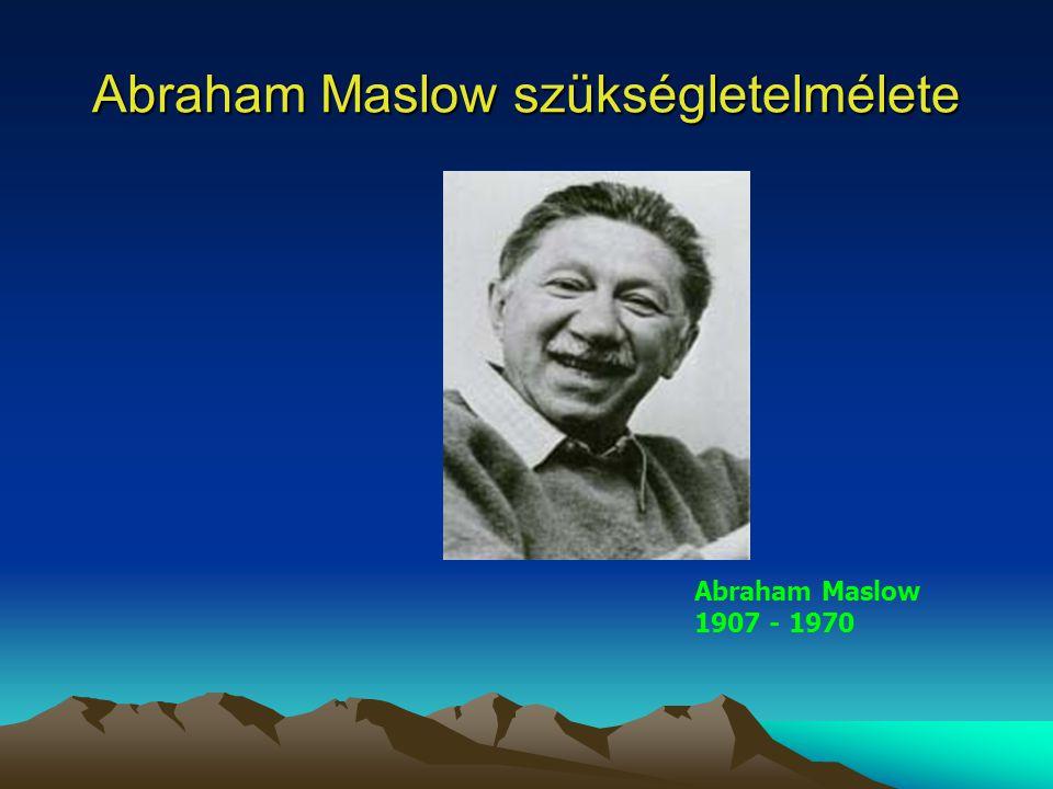 Abraham Maslow szükségletelmélete