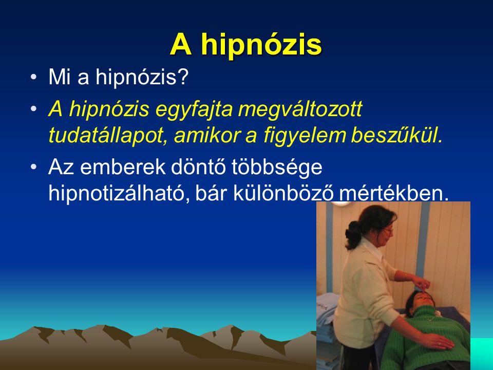 A hipnózis Mi a hipnózis