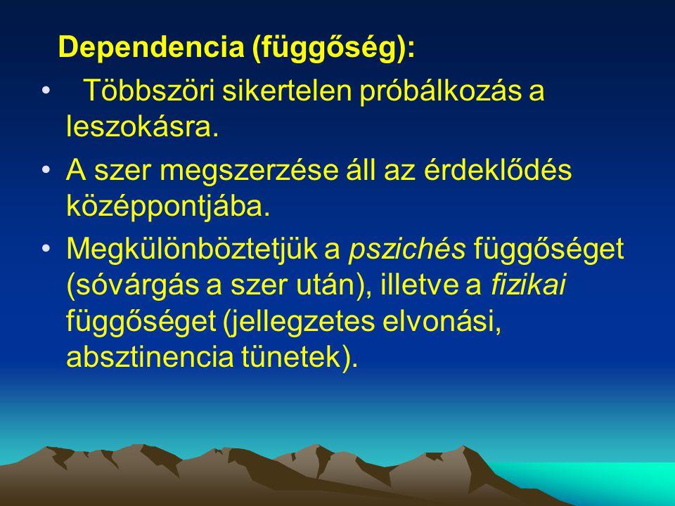 Dependencia (függőség):
