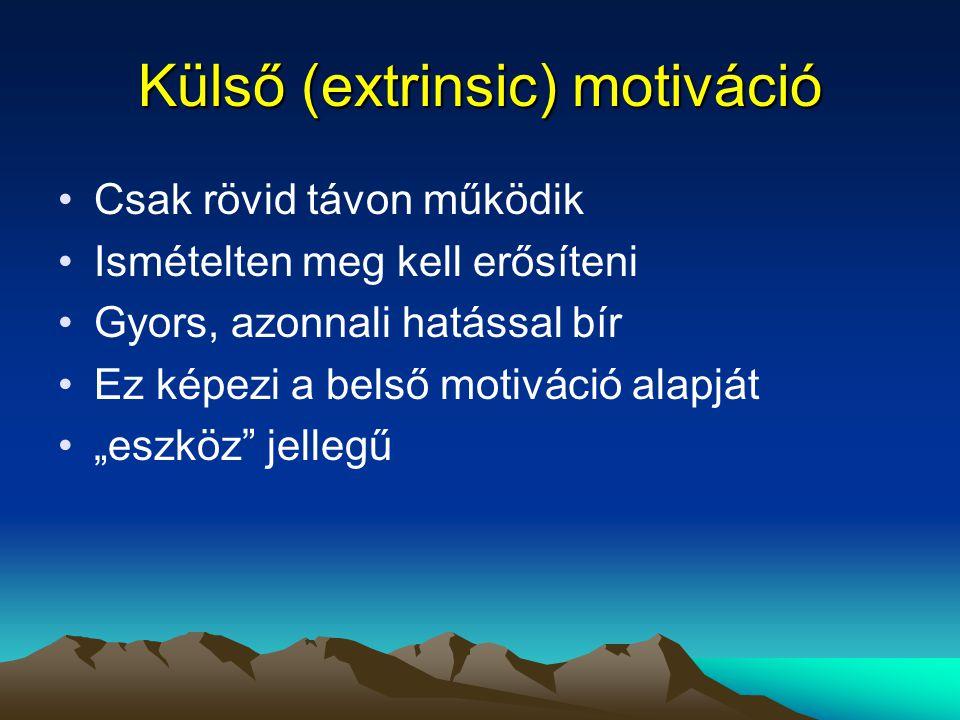 Külső (extrinsic) motiváció