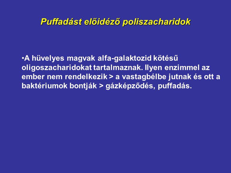 Puffadást előidéző poliszacharidok