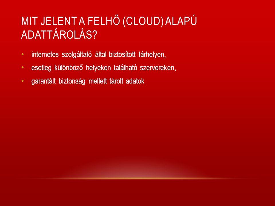 Mit jelent a felhő (cloud) alapú adattárolás