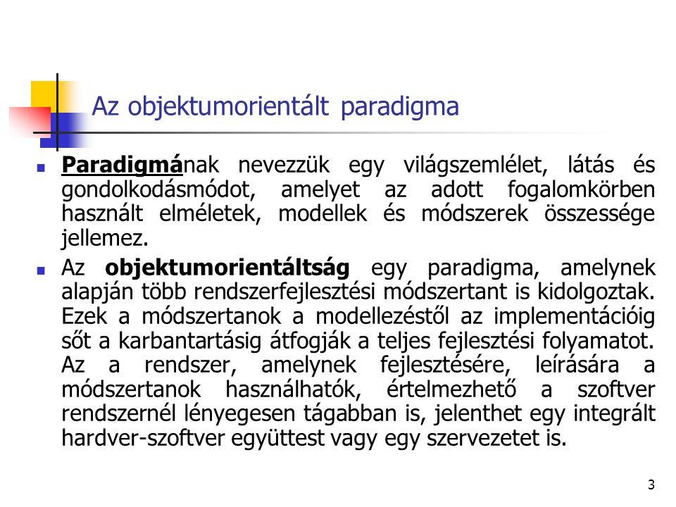Az objektumorientált paradigma
