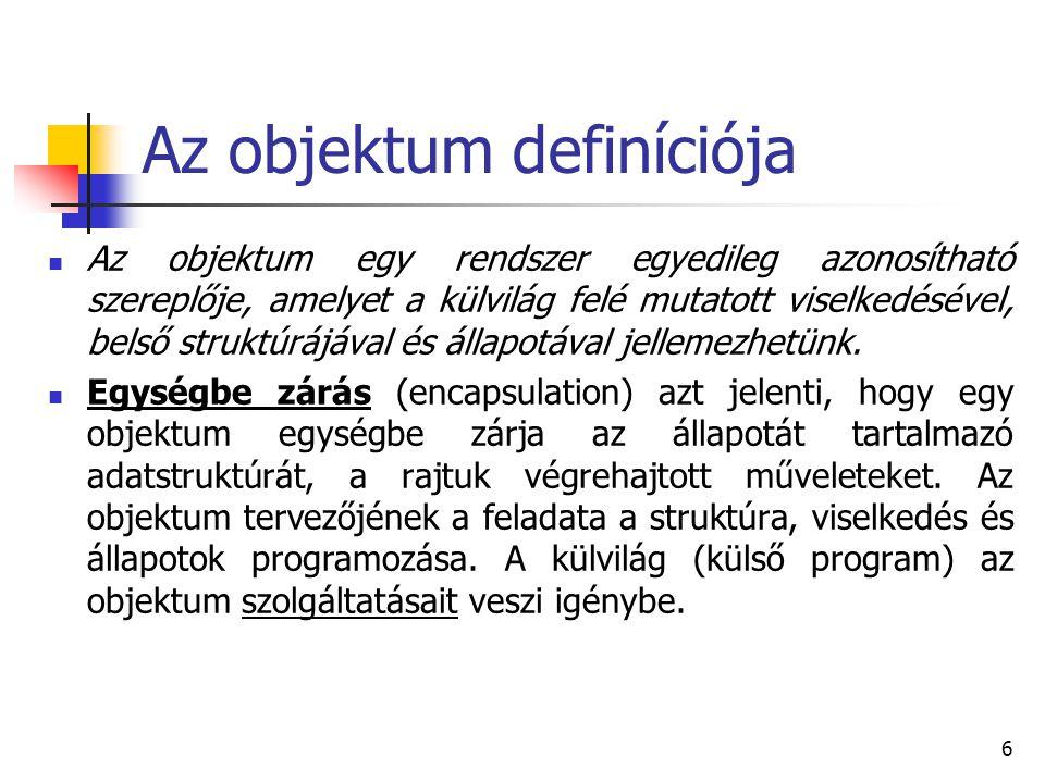 Az objektum definíciója