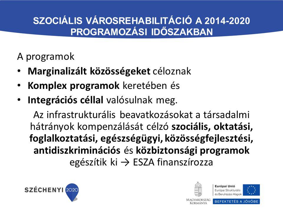 Szociális városrehabilitáció a 2014-2020 programozási időszakban