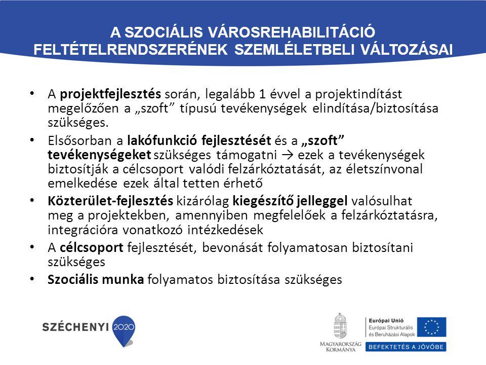 A szociális városrehabilitáció feltételrendszerének szemléletbeli változásai