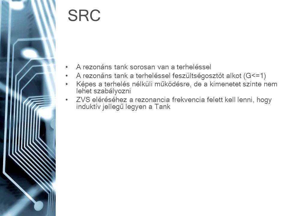 SRC A rezonáns tank sorosan van a terheléssel