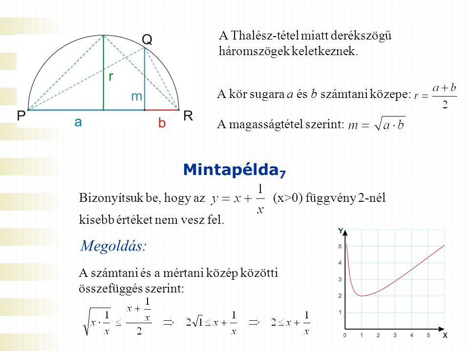 A Thalész-tétel miatt derékszögű háromszögek keletkeznek.