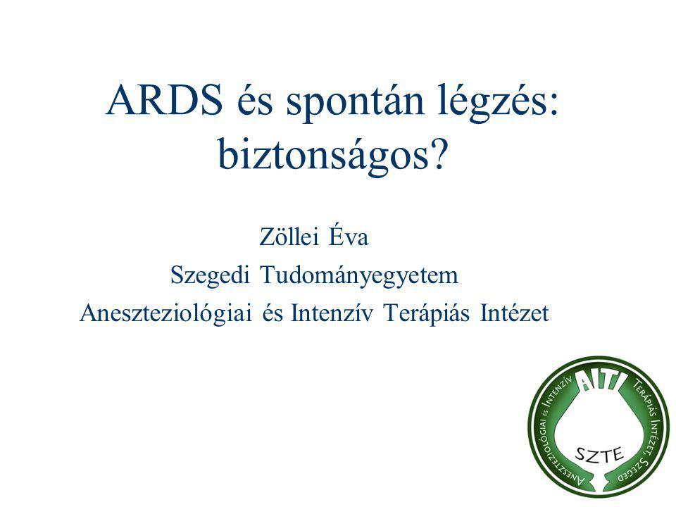 ARDS és spontán légzés: biztonságos