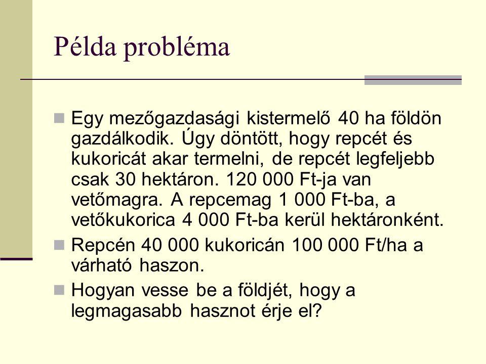 Példa probléma
