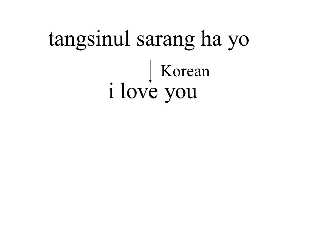 tangsinul sarang ha yo Korean i love you