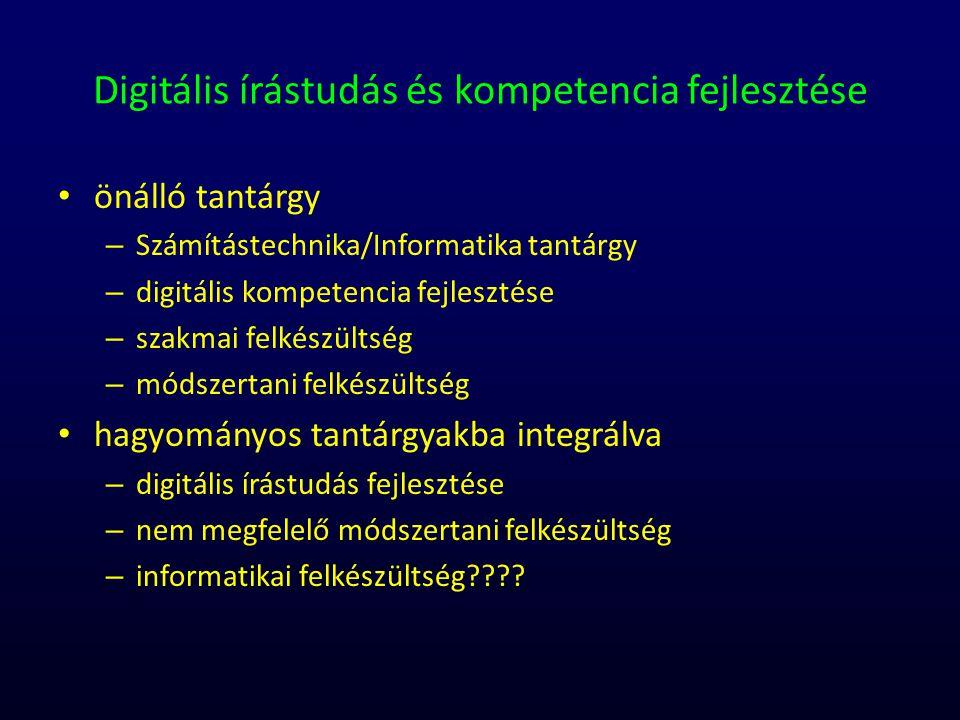 Digitális írástudás és kompetencia fejlesztése