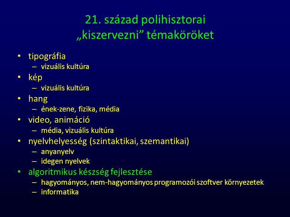 """21. század polihisztorai """"kiszervezni témaköröket"""
