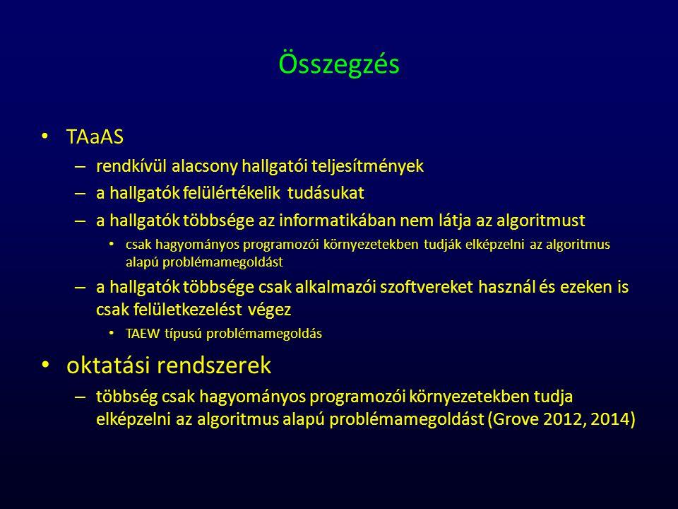 Összegzés oktatási rendszerek TAaAS
