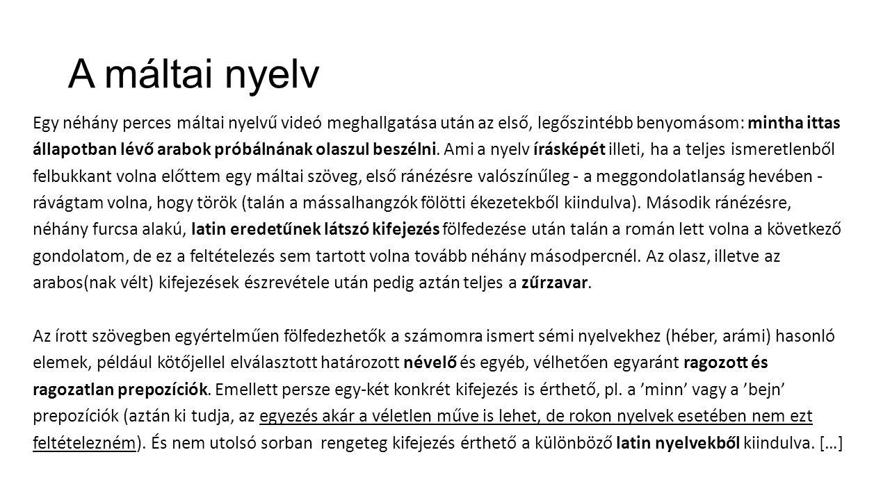 A máltai nyelv
