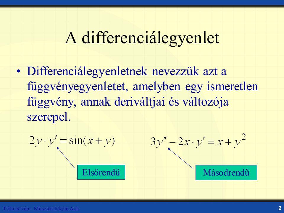 A differenciálegyenlet