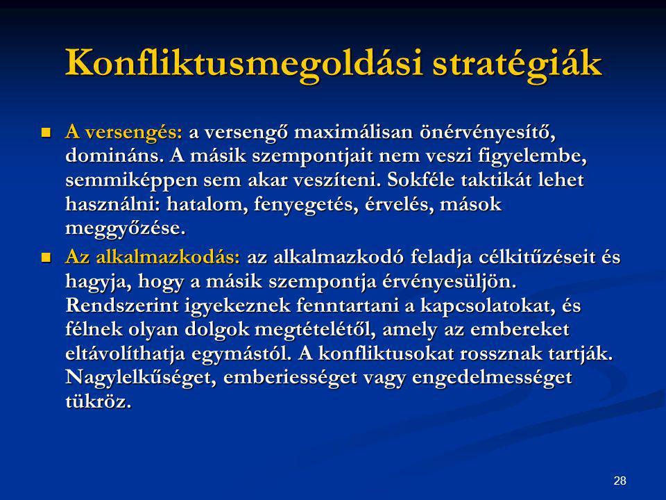 Konfliktusmegoldási stratégiák