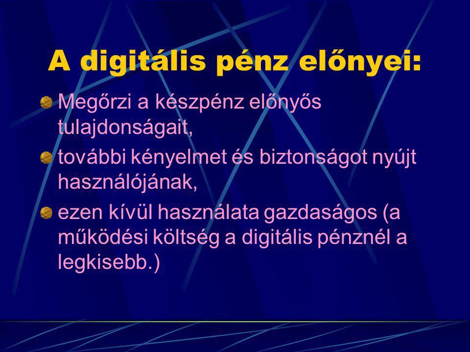 A digitális pénz előnyei: