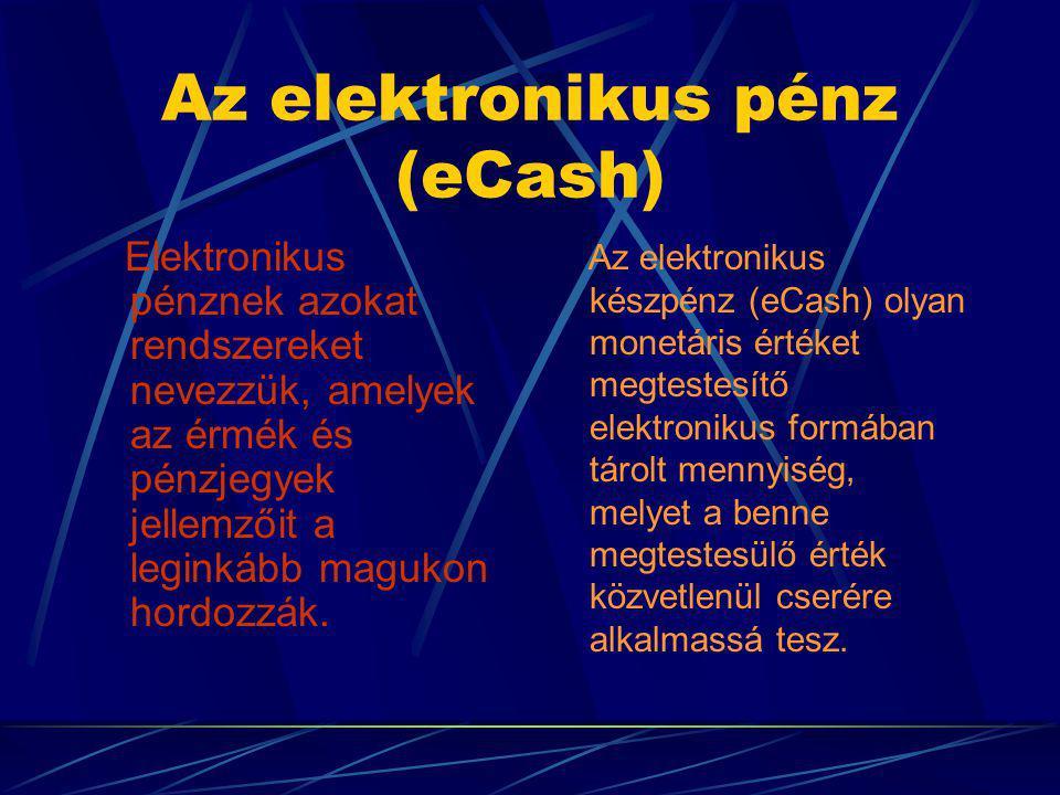 Az elektronikus pénz (eCash)