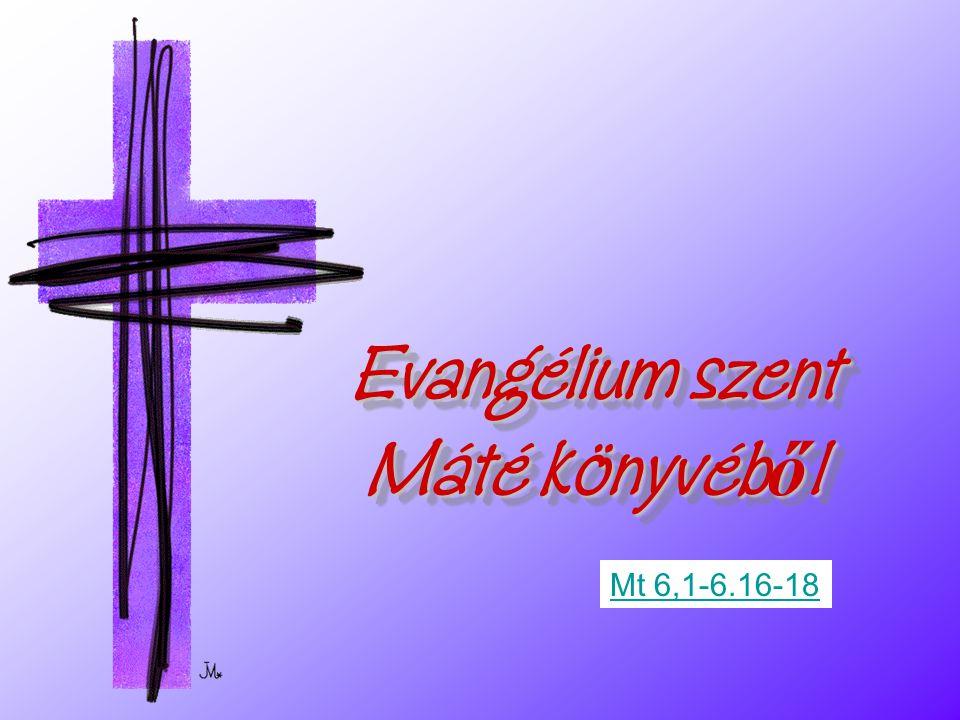 Evangélium szent Máté könyvéből