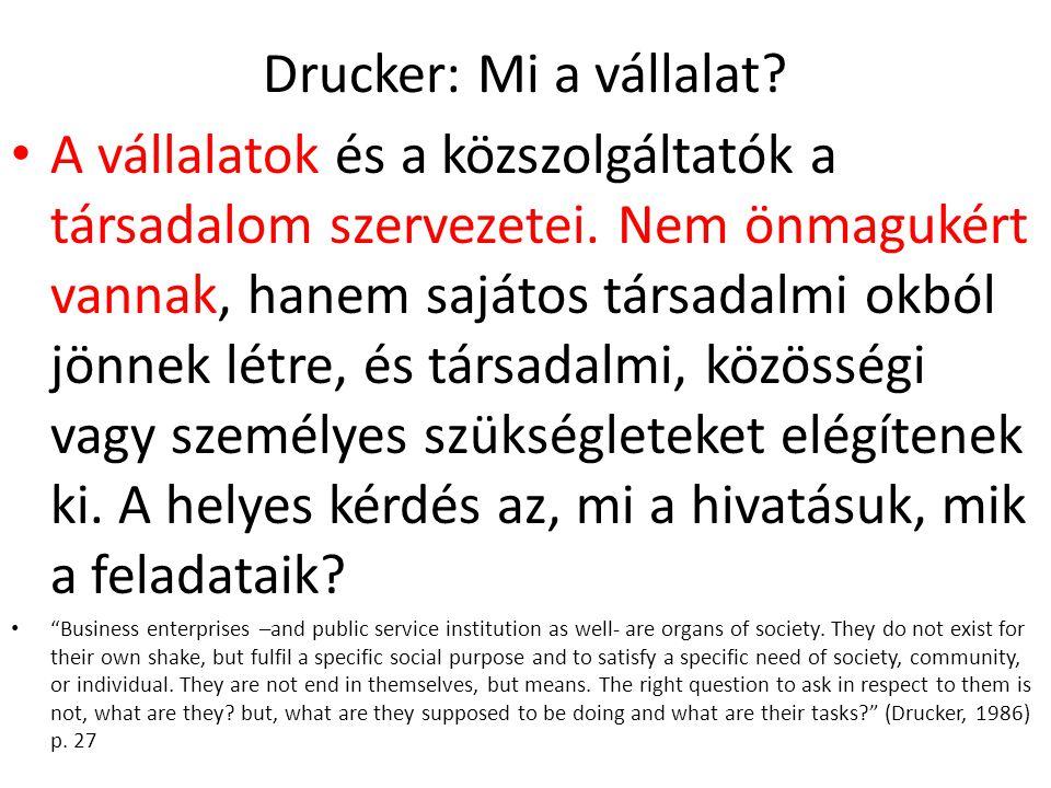 Drucker: Mi a vállalat