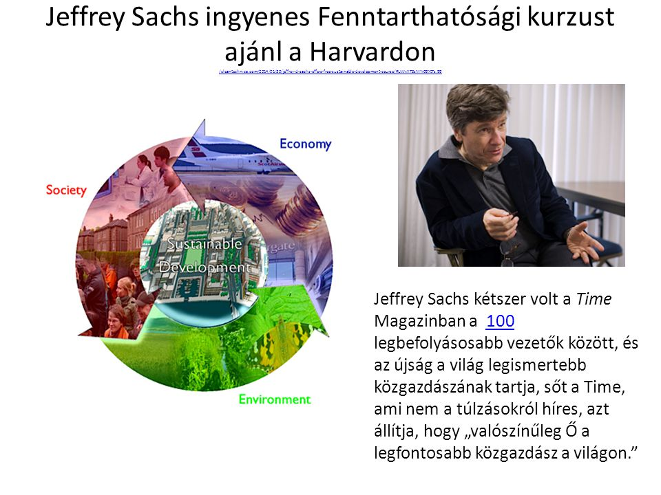 Jeffrey Sachs ingyenes Fenntarthatósági kurzust ajánl a Harvardon /cleantechnica.com/2014/01/30/jeffrey-d-sachs-offers-free-sustainable-development-course/#UWxXT3sMYr09XtTs.99