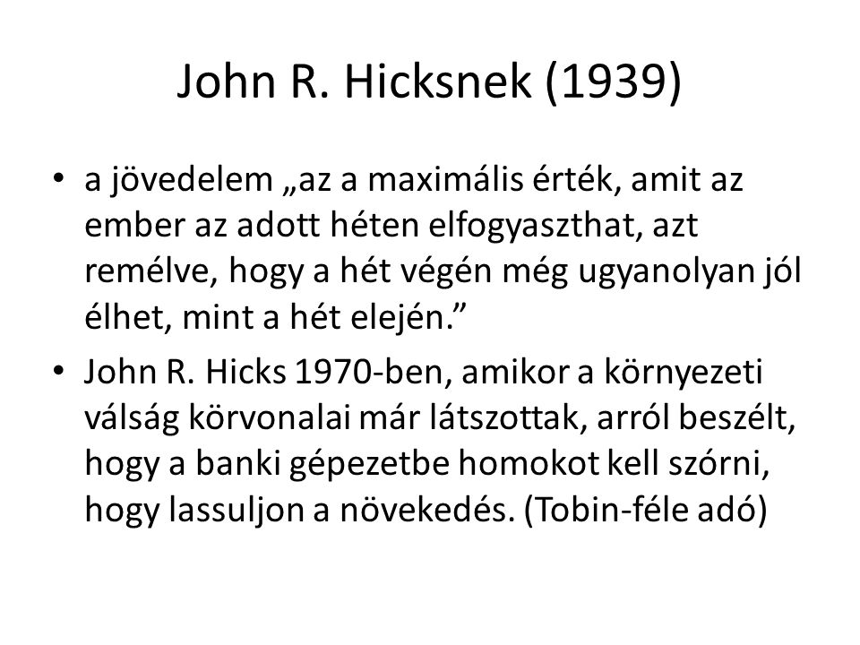 John R. Hicksnek (1939)