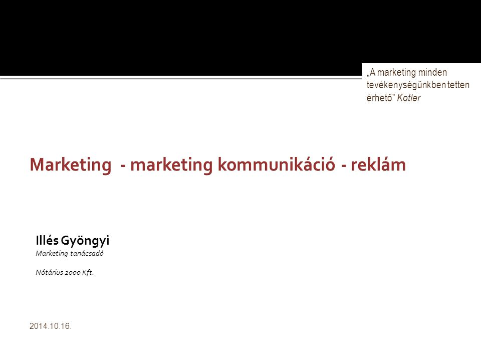 Marketing - marketing kommunikáció - reklám