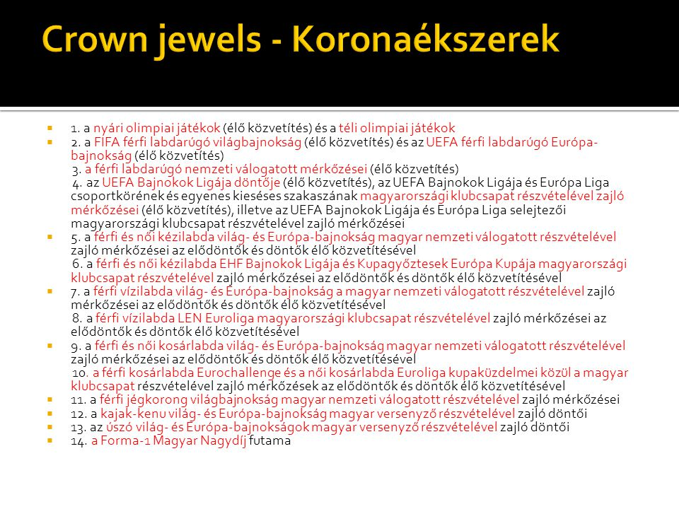 Crown jewels - Koronaékszerek