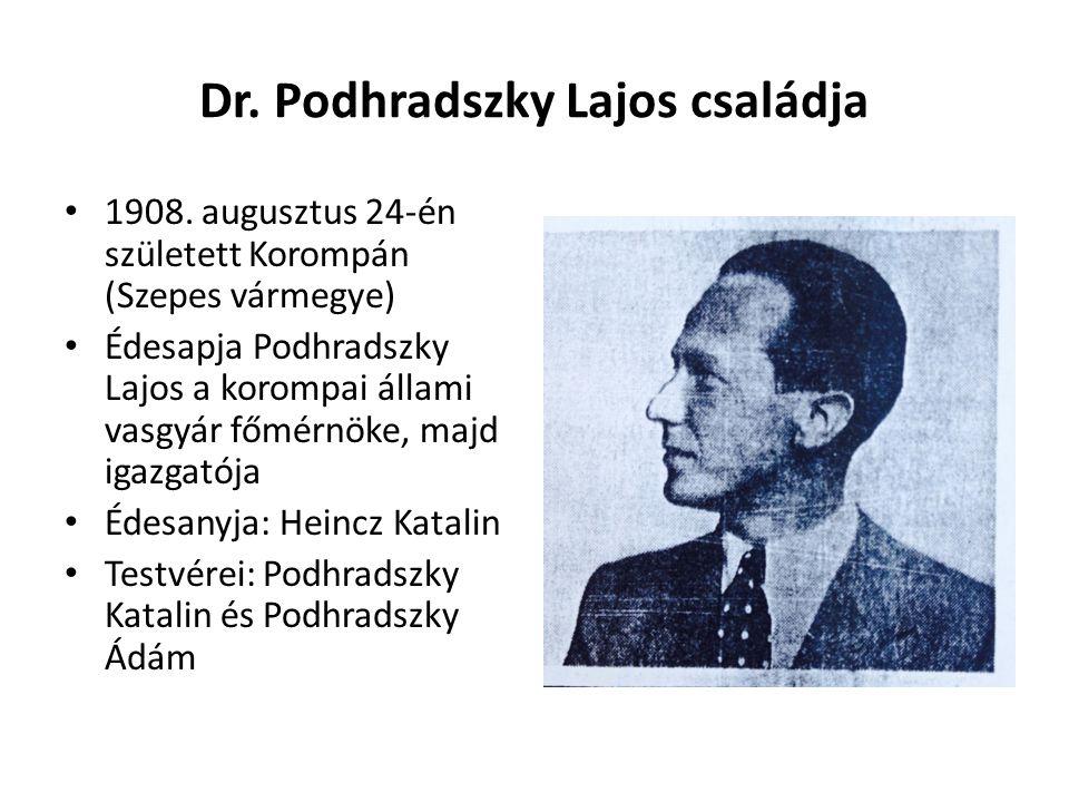 Dr. Podhradszky Lajos családja