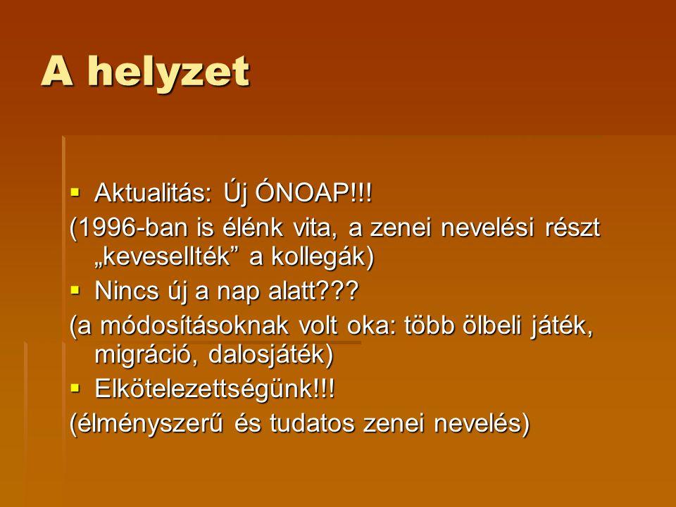 A helyzet Aktualitás: Új ÓNOAP!!!