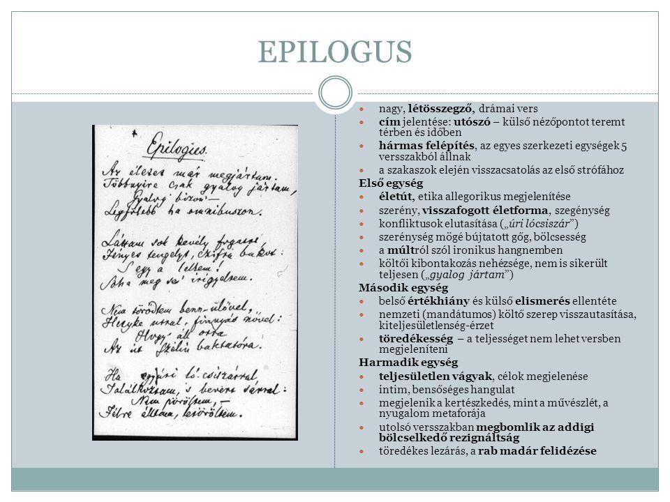 EPILOGUS nagy, létösszegző, drámai vers