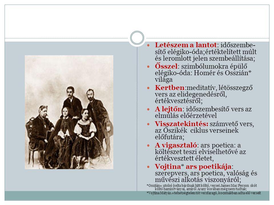 Ősszel: szimbólumokra épülő elégiko-óda: Homér és Osszián* világa