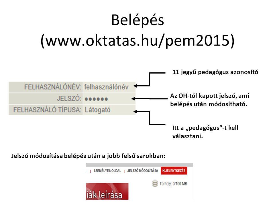Belépés (www.oktatas.hu/pem2015)