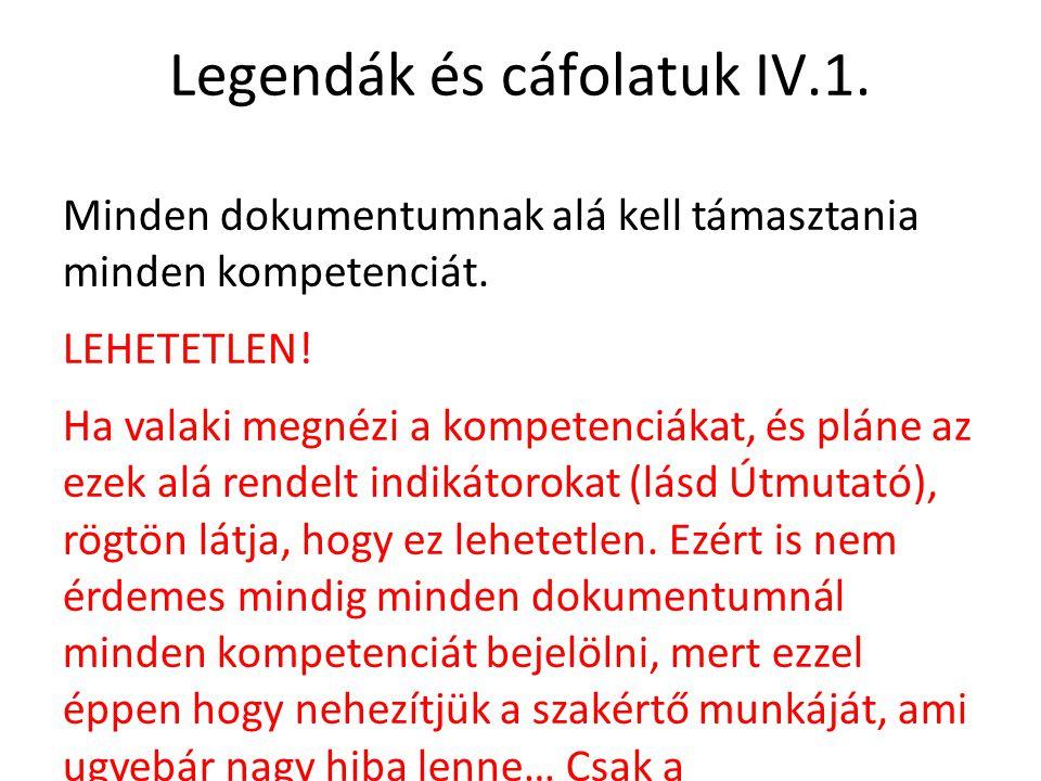 Legendák és cáfolatuk IV.1.
