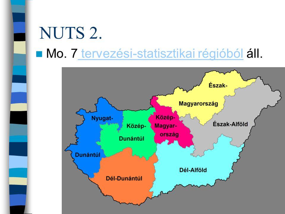 NUTS 2. Mo. 7 tervezési-statisztikai régióból áll.