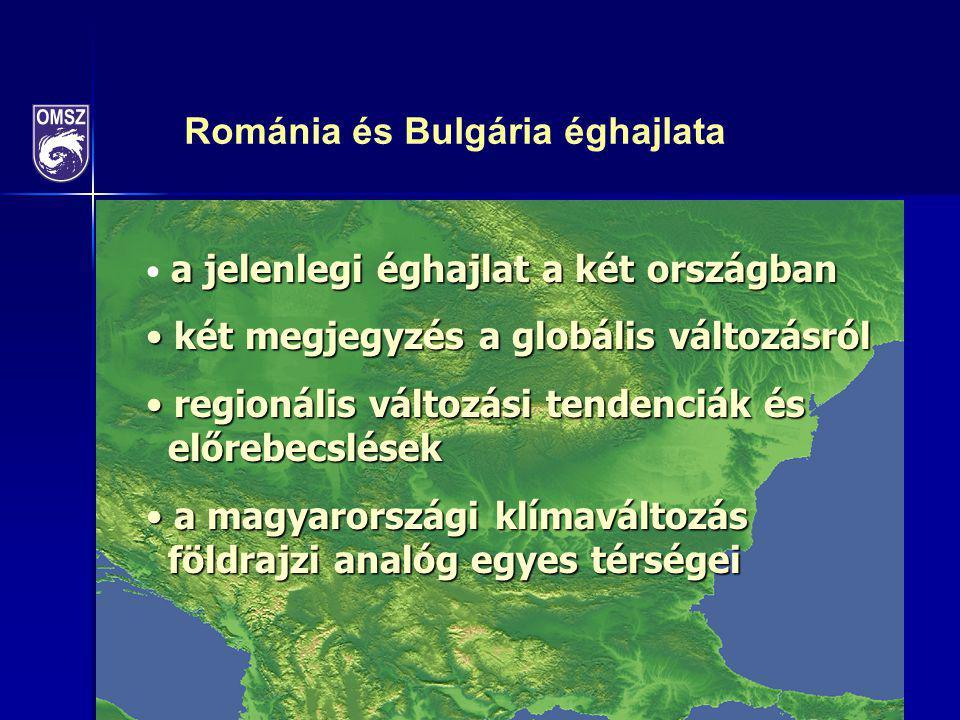 Románia és Bulgária éghajlata