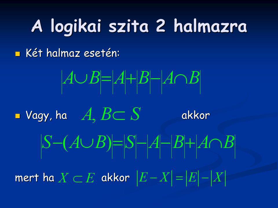 A logikai szita 2 halmazra