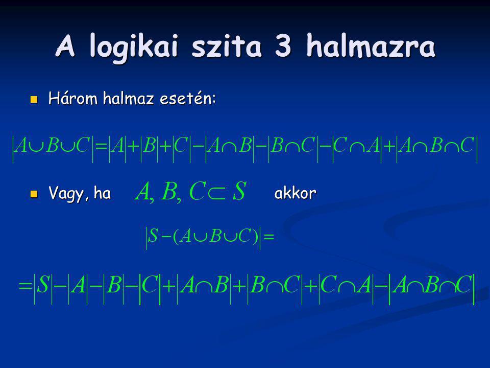 A logikai szita 3 halmazra