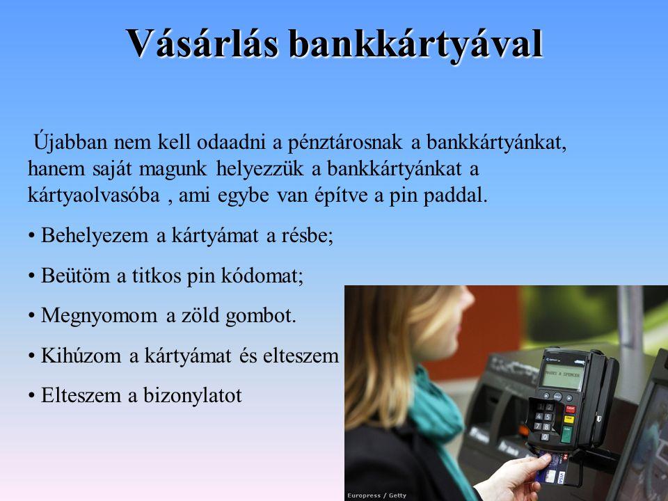 Vásárlás bankkártyával